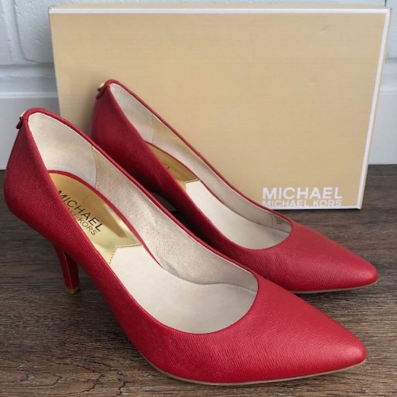 Michael Kors Flex Mid Pump RED
